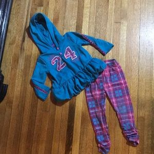 "Pink & Blue Plaid ""24"" Hoodie Outfit"